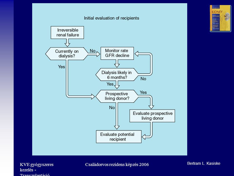 KVE gyógyszeres kezelés - Transzplantáció Családorvos rezidens képzés 2006 Bertram L. Kasiske