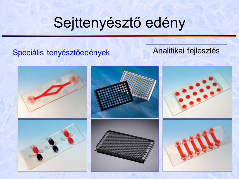Sejttenyésztő edény Speciális tenyésztőedények Analitikai fejlesztés