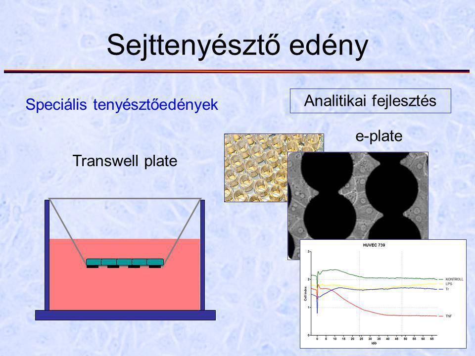 Sejttenyésztő edény Speciális tenyésztőedények Analitikai fejlesztés Transwell plate e-plate