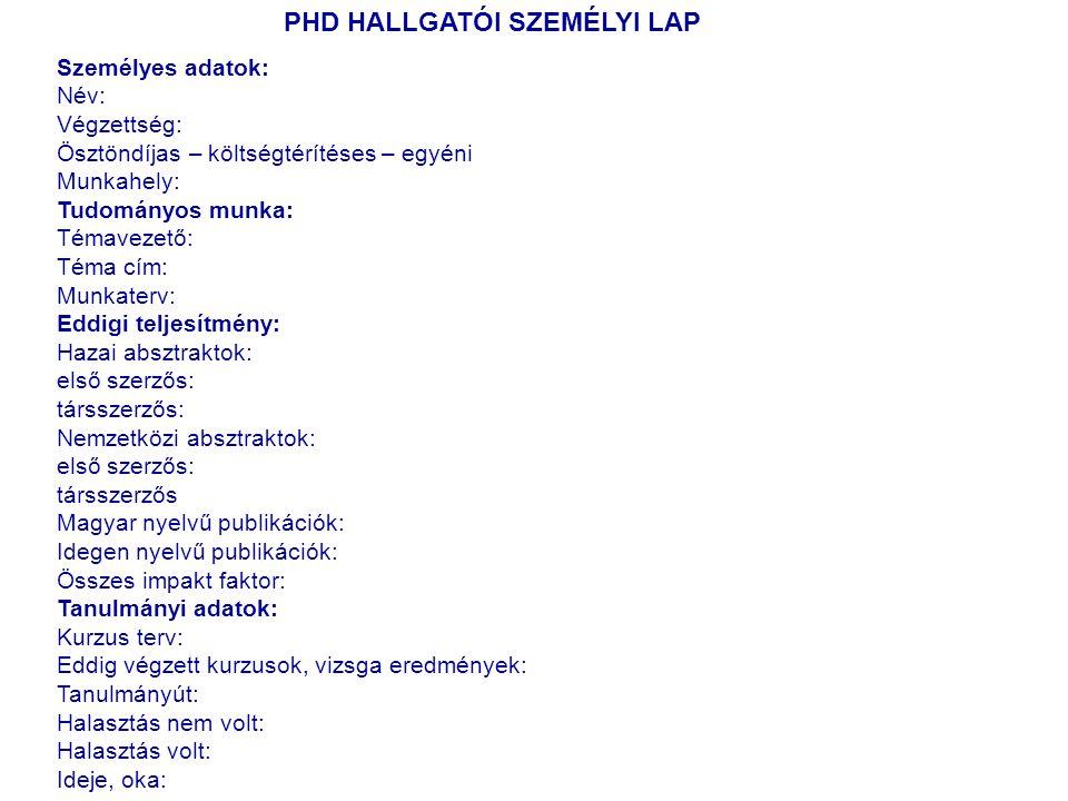 NANOMEDICINA PhD kurzus, 2011.Prof. Dr.