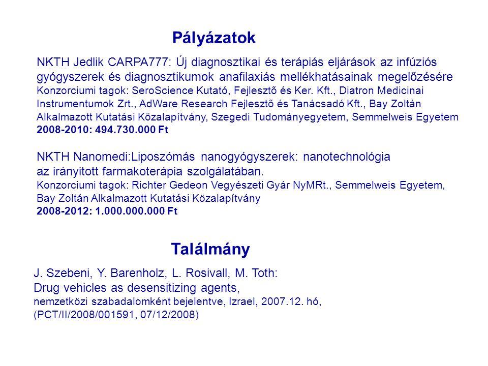 """Nanomedicina Munkabizottság ajánlásai A Magyarországon nanogyógyszerekre, illetve gyógyszer nanohordozókra irányuló K+F tevékenységek összehangolása; """"Nanomedicina Hírmondó honlap létrehozása és fenntartása a hazai nanomedicina K+ F közösség kommunikációja céljából; Rendszeres előadások és tematikus fórumok rendezése; Posztgraduális képzések és PhD kurzusok indítása; Pályázatfigyelés és pályázatírás; Kapcsolat teremtés és kapcsolattartás egyéb európai nanomedicina laboratóriumokkal és szervezetekkel; Minél szorosabb együttműködés a CLINAM és az ESNAM európai nanomedicinával foglalkozó szervezetekkel; FP7 és NKTH pályázat beadása Nanomedicina Oktató és Kutató Központ létrehozása az SE -en."""