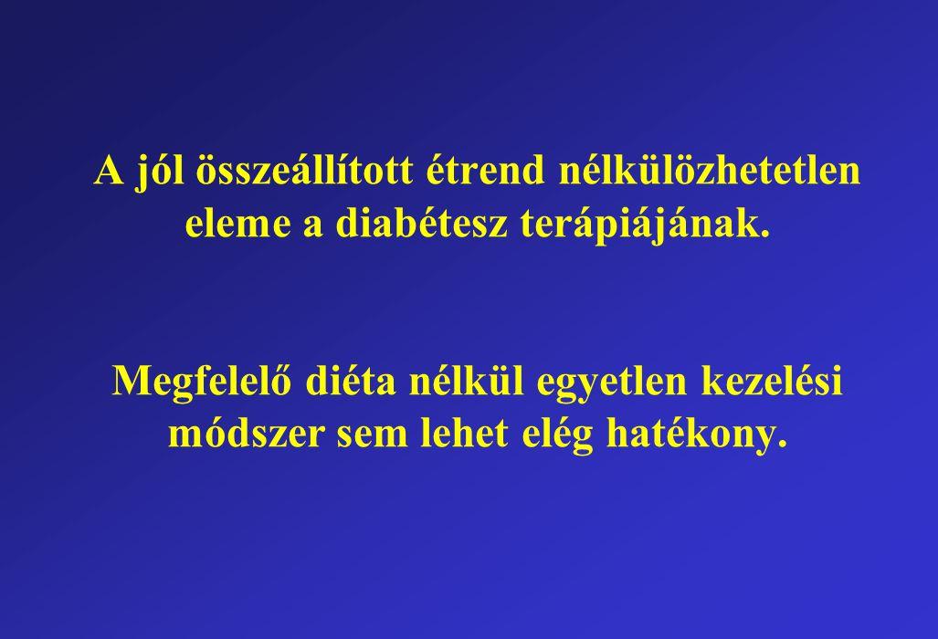 A jól összeállított étrend nélkülözhetetlen eleme a diabétesz terápiájának.