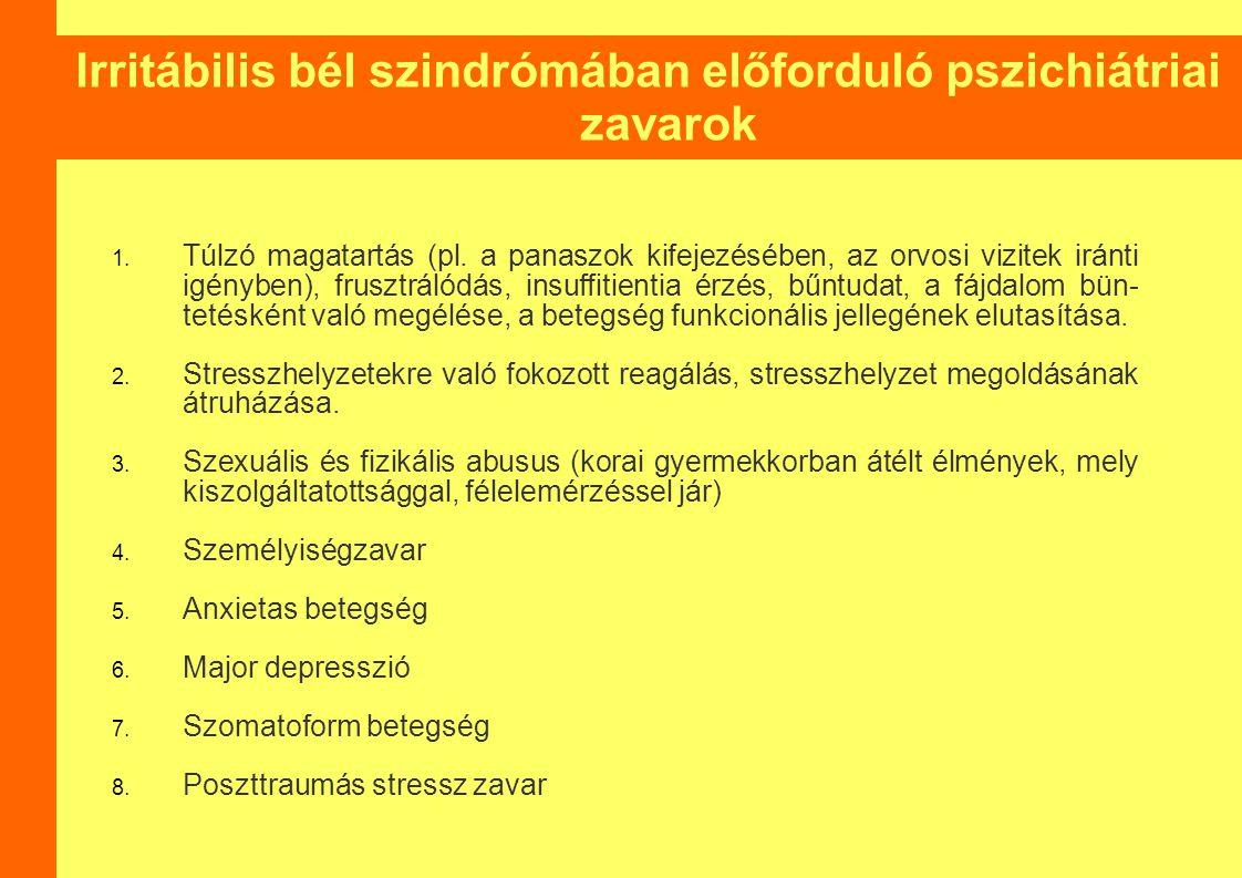 Irritábilis bél szindrómában előforduló pszichiátriai zavarok 1.