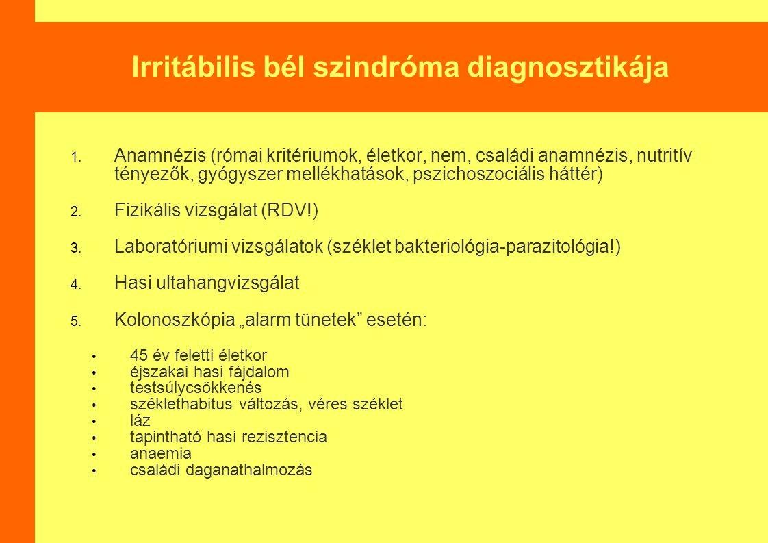 Irritábilis bél szindróma diagnosztikája 1.