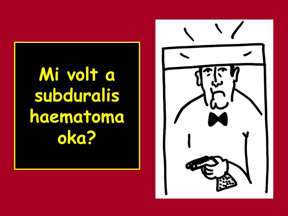Mi volt a subduralis haematoma oka?
