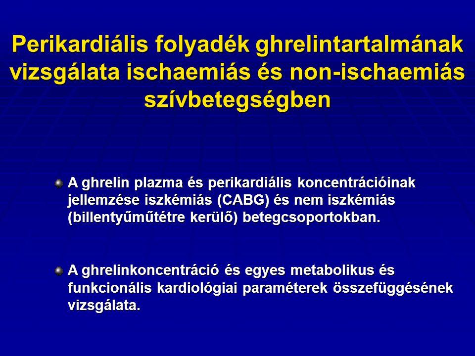 Perikardiális folyadék  eredetét tekintve főként miokardiális transzszudátum  több szíveredetű ágens a a plazmánál magasabb koncentrációban van jelen (pl.