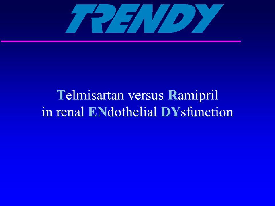 Telmisartan versus Ramipril in renal ENdothelial DYsfunction