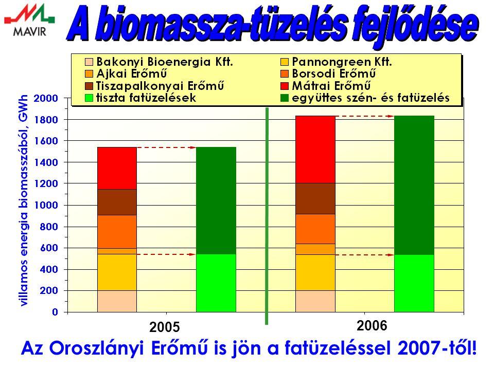 2005 Az Oroszlányi Erőmű is jön a fatüzeléssel 2007-től! 2006