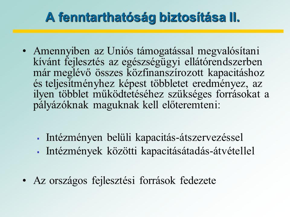 A fenntarthatóság biztosítása II.