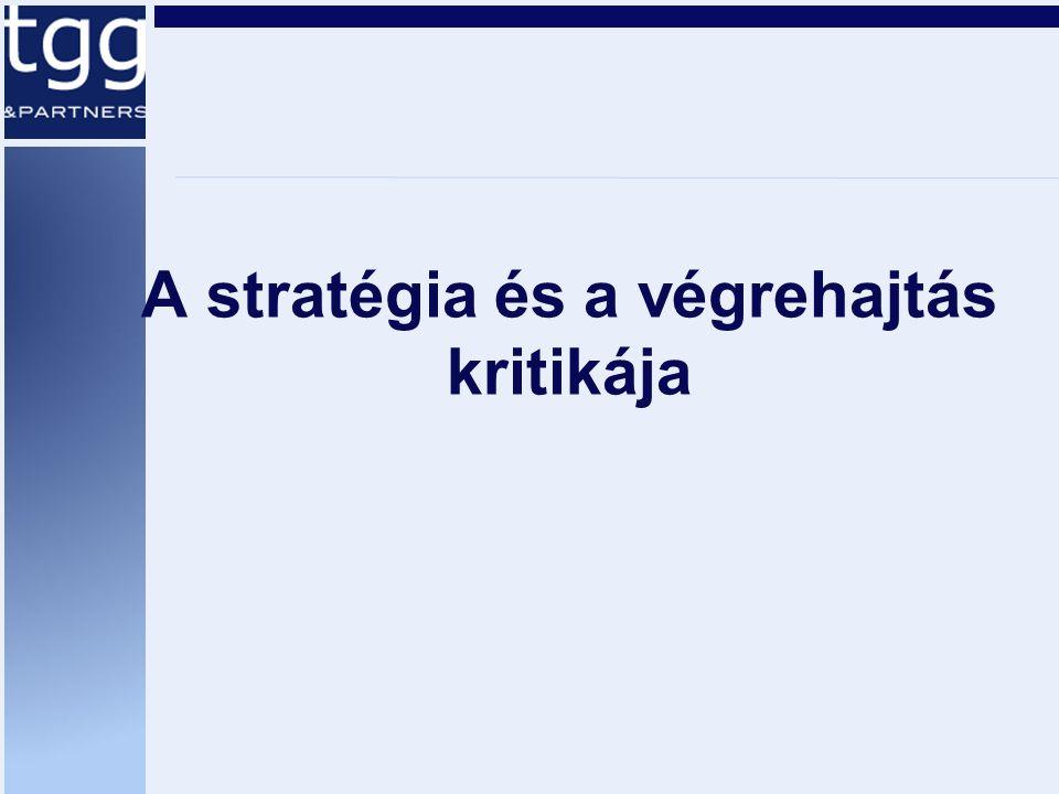 A stratégia és a végrehajtás kritikája