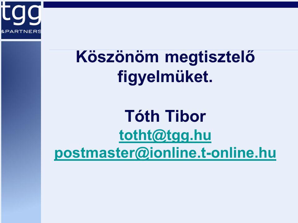 Köszönöm megtisztelő figyelmüket. Tóth Tibor totht@tgg.hu postmaster@ionline.t-online.hu totht@tgg.hu postmaster@ionline.t-online.hu