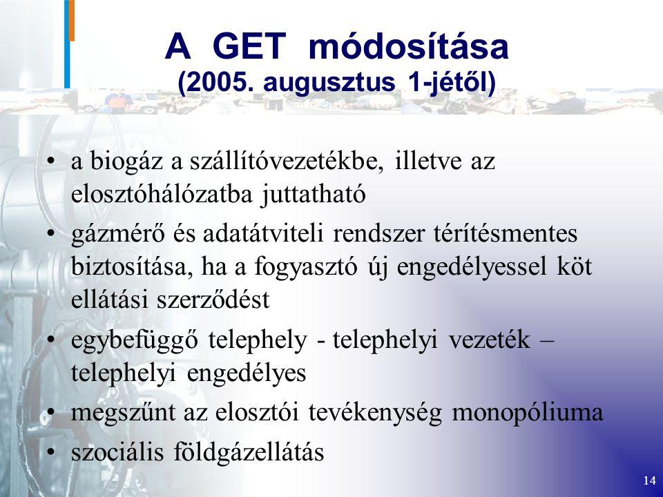 14 A GET módosítása (2005.