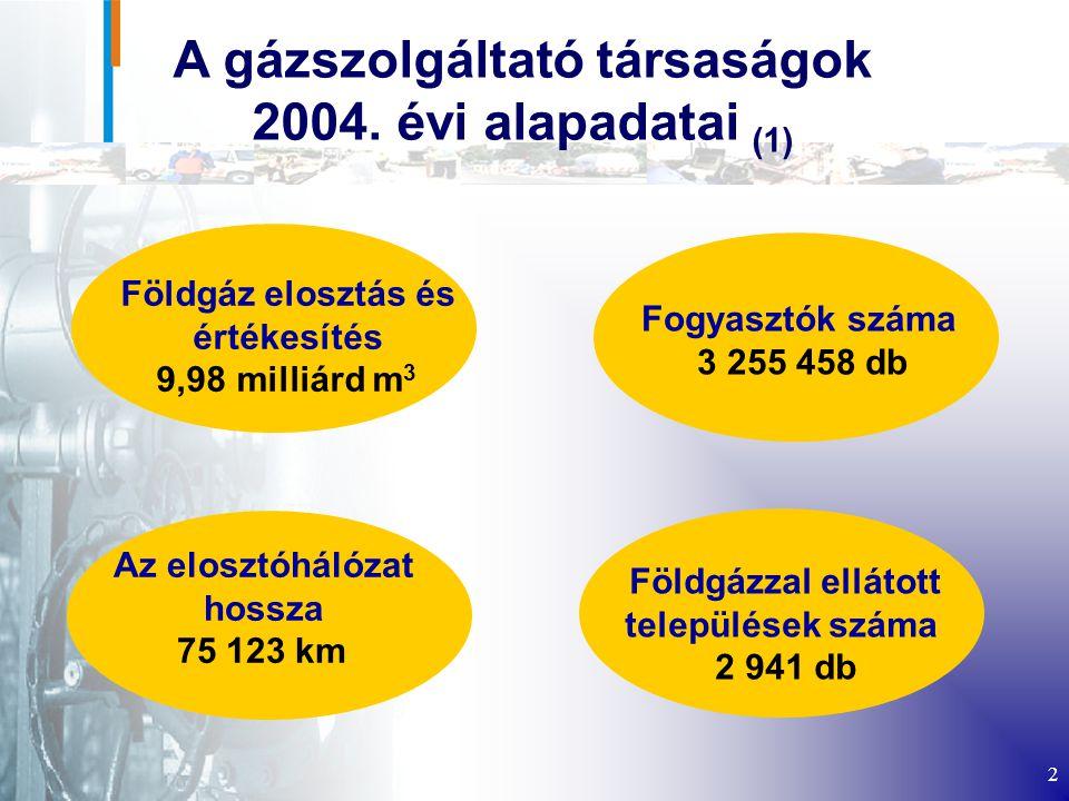2 A gázszolgáltató társaságok 2004.