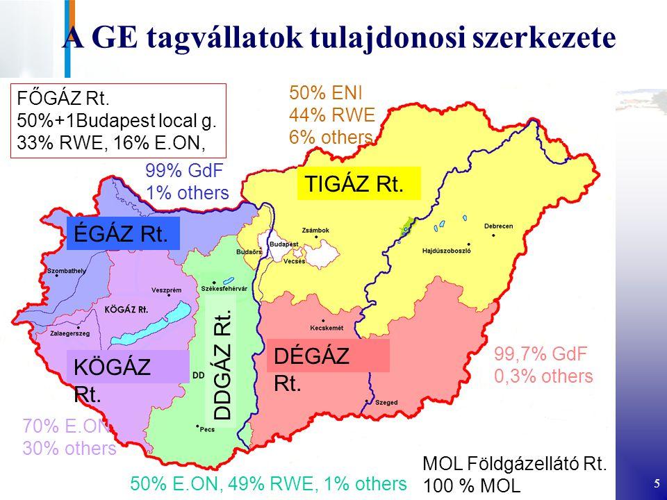 5 A GE tagvállatok tulajdonosi szerkezete FŐGÁZ Rt.