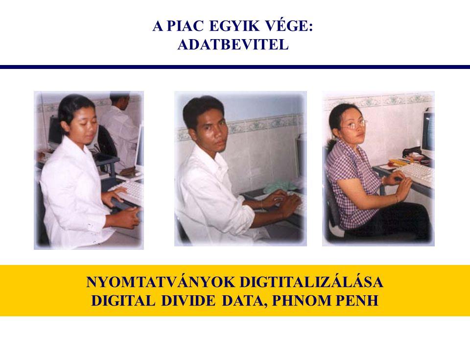 A PIAC EGYIK VÉGE: ADATBEVITEL NYOMTATVÁNYOK DIGTITALIZÁLÁSA DIGITAL DIVIDE DATA, PHNOM PENH
