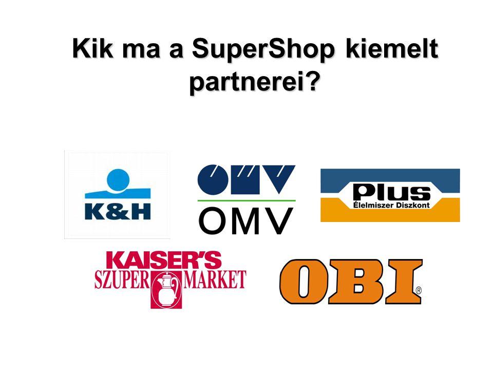 """SuperShop: hosszú távú marketing eszköz a modern technológia bázisán –A koncepció: A középpontban a VEVŐ, a résztvevő partnervállalatok törzsvásárlói programja –Cél: hosszú távú lojalitás kialakítása –Célcsoport : a Partnervállalatok vevőköre –USP: A jutalompontok gyorsan összegződnek, ezek szabadon beválthatók a Partnerek üzleteiben, bármely áru vagy szolgáltatás igénybe vételére """"élelmiszertől a benzinkútig –Kommunikáció : minden vásárlásnál –Eszköz: legkorszerűbb informatikai szolgáltató rendszer"""