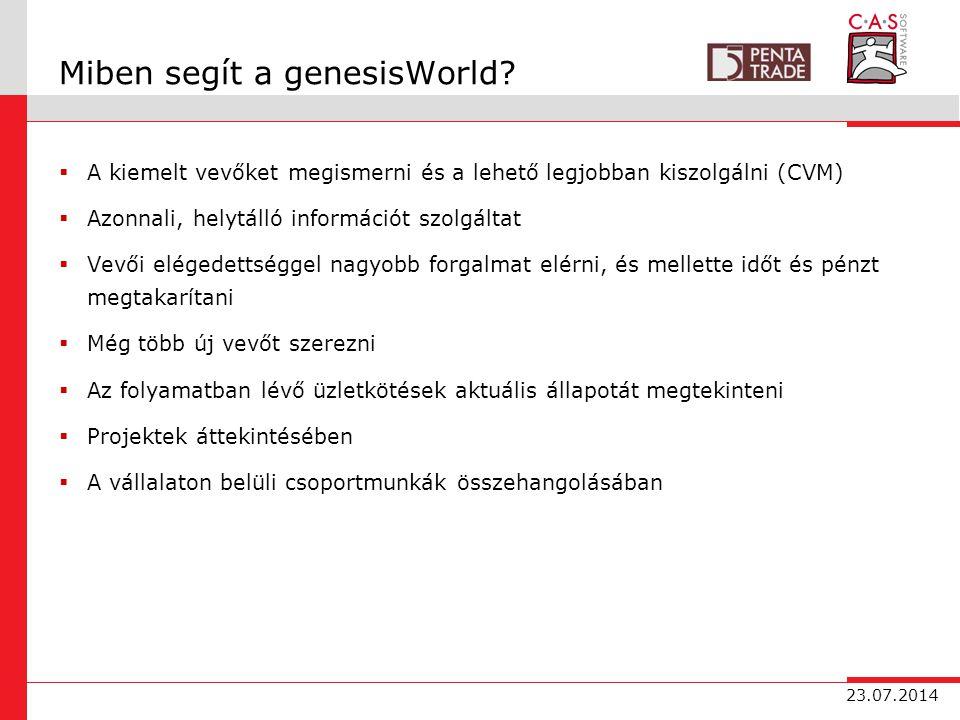 23.07.2014 Miben segít a genesisWorld.