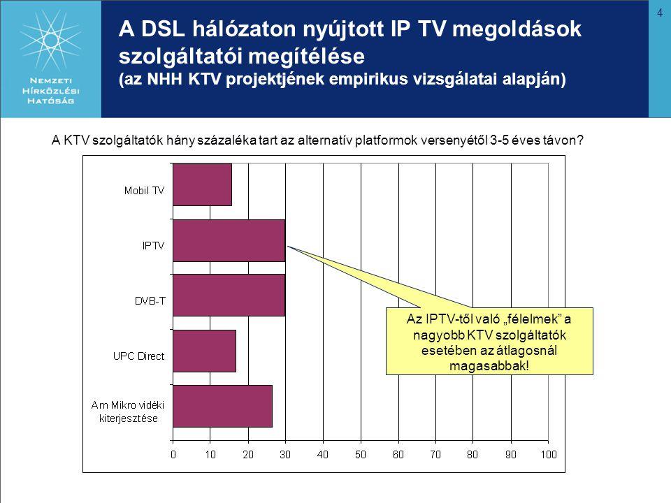 5 AZ IP TV SZABÁLYOZÁSI HÁTTERE ÉS TÁMOGATÁSA Fiskális intézkedések A szélessávú infrastruktúra kiépítésére irányuló erőfeszítések alapvetően támogatottak és támogathatóak.