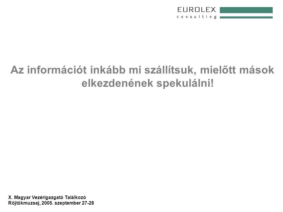 X.Magyar Vezérigazgató Találkozó Röjtökmuzsaj, 2005.