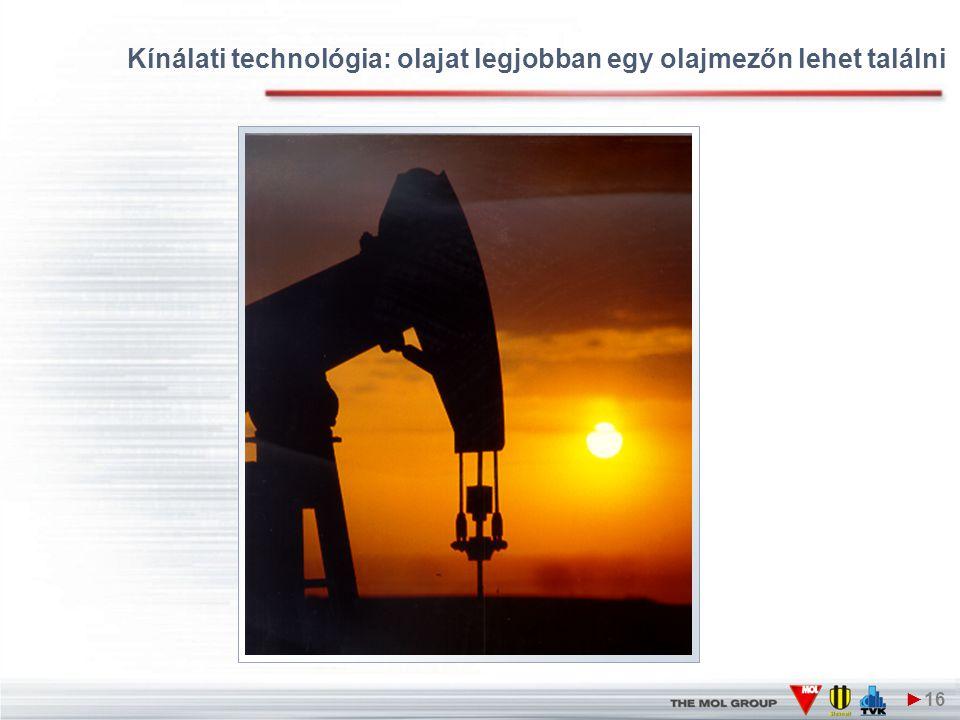 Kínálati technológia: olajat legjobban egy olajmezőn lehet találni ►16