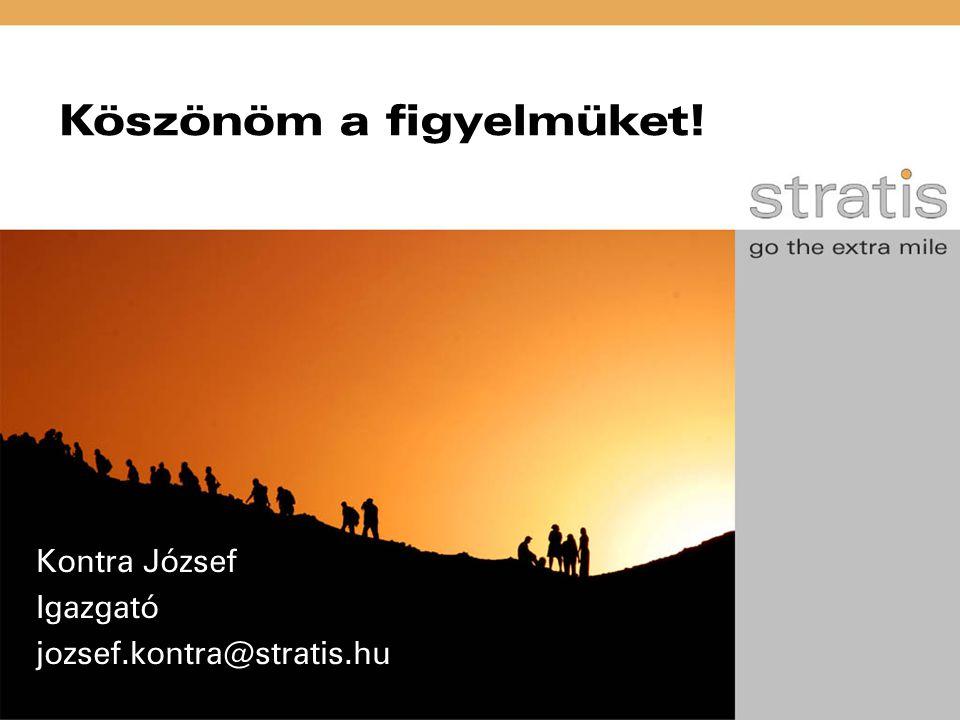 Köszönöm a figyelmüket! Kontra József Igazgató jozsef.kontra@stratis.hu
