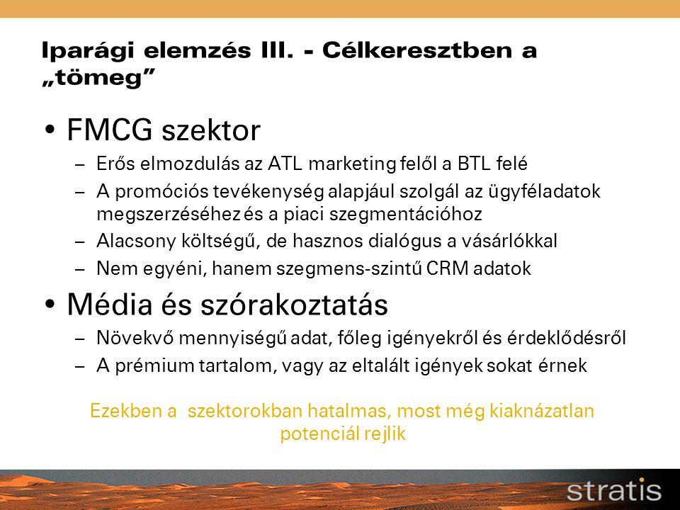 """Iparági elemzés III. - Célkeresztben a """"tömeg"""" FMCG szektor – Erős elmozdulás az ATL marketing felől a BTL felé – A promóciós tevékenység alapjául szo"""