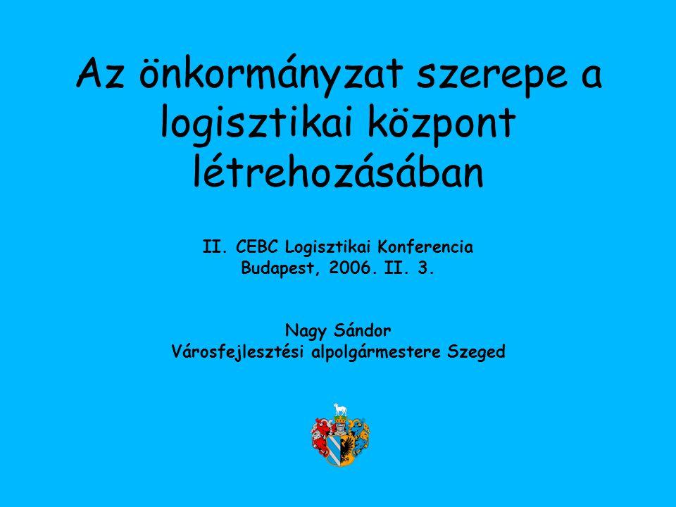Az önkormányzat szerepe a logisztikai központ létrehozásában II.