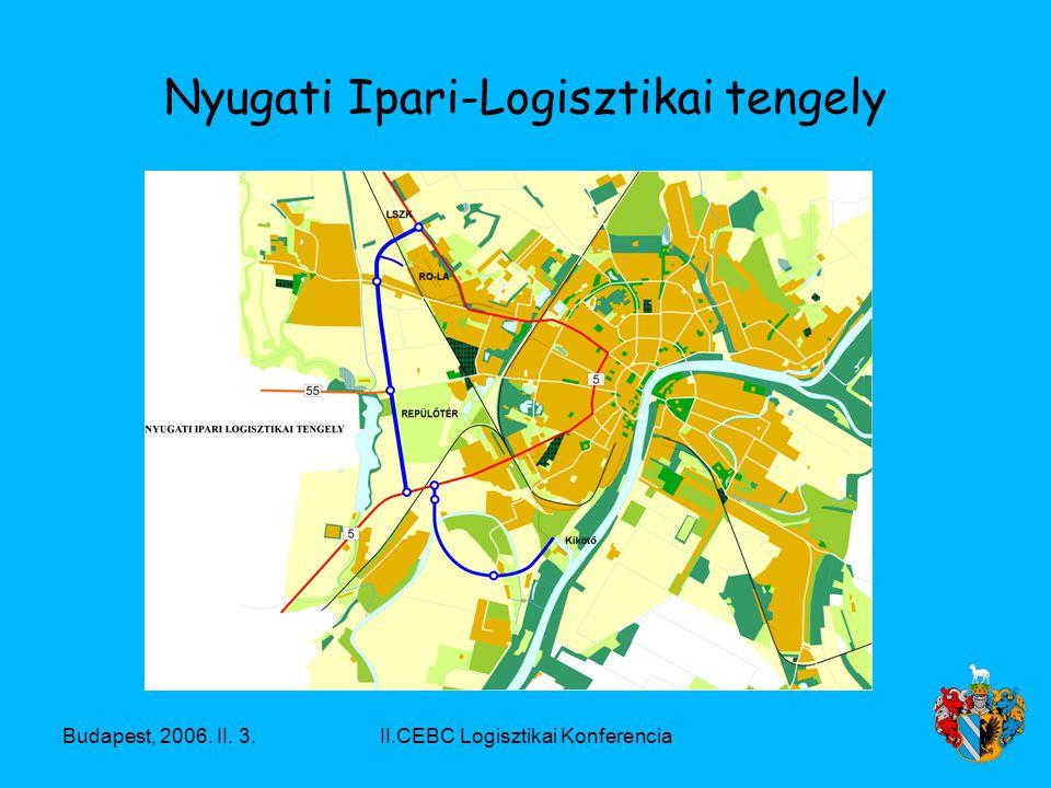 Budapest, 2006. II. 3.II.CEBC Logisztikai Konferencia Nyugati Ipari-Logisztikai tengely