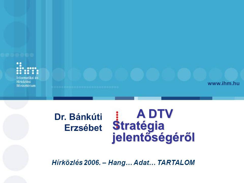 www.ihm.hu Dr. Bánkúti Erzsébet Hírközlés 2006.
