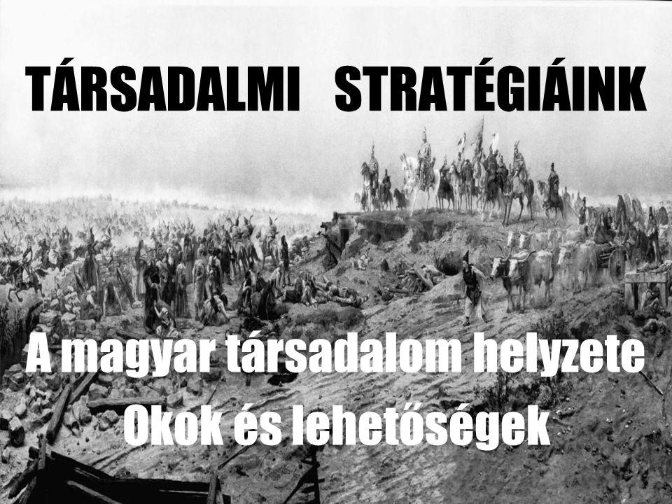 TÁRSADALMI STRATÉGIÁINK A magyar társadalom helyzete Okok és lehetőségek
