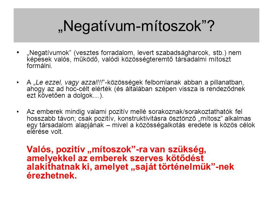 """""""Negatívum-mítoszok ."""