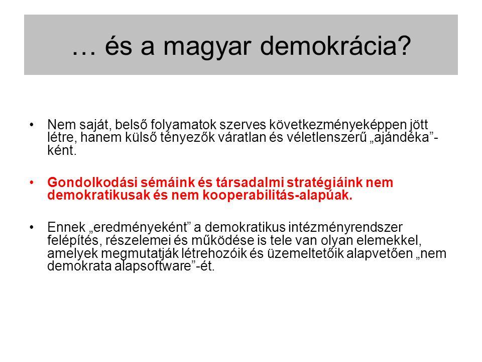 … és a magyar demokrácia.