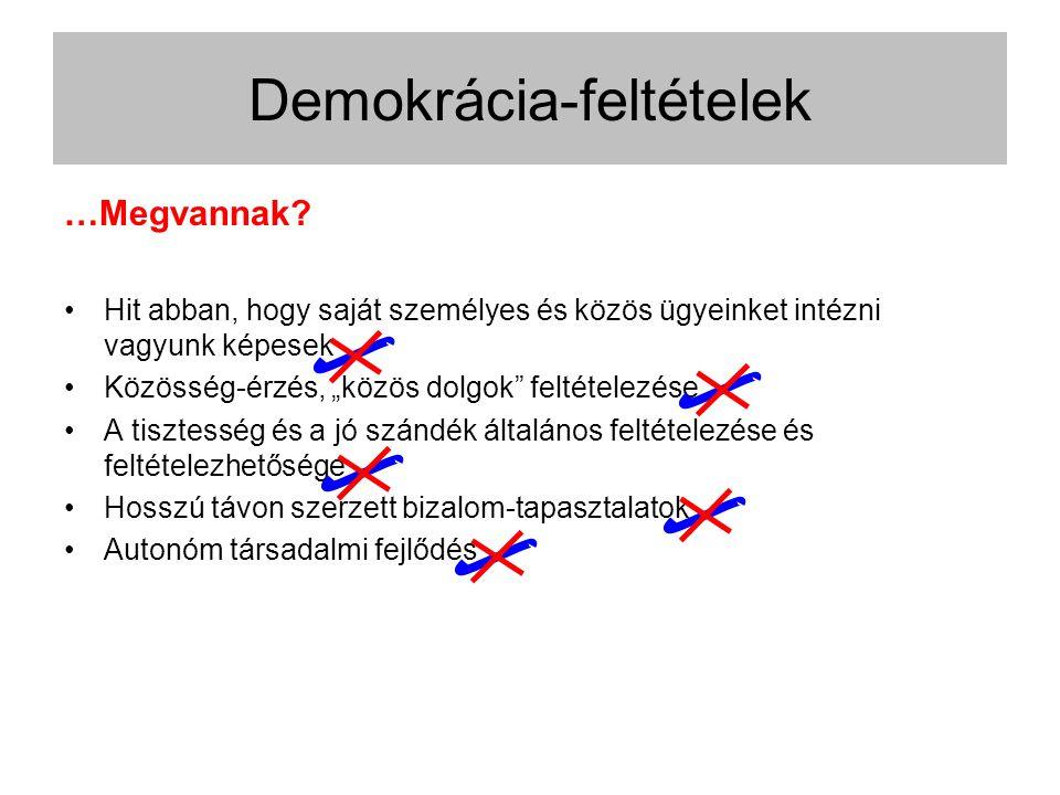 Demokrácia-feltételek …Megvannak.