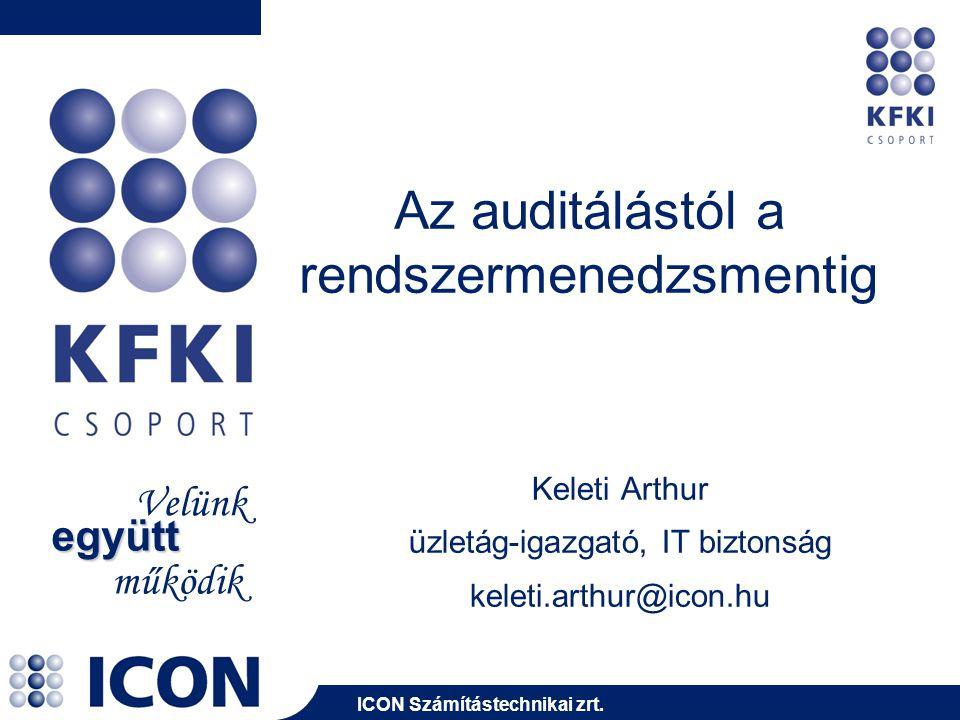 ICON Számítástechnikai zrt.2014. július 23. 12 Példák a kiszervezett biztonságra I.