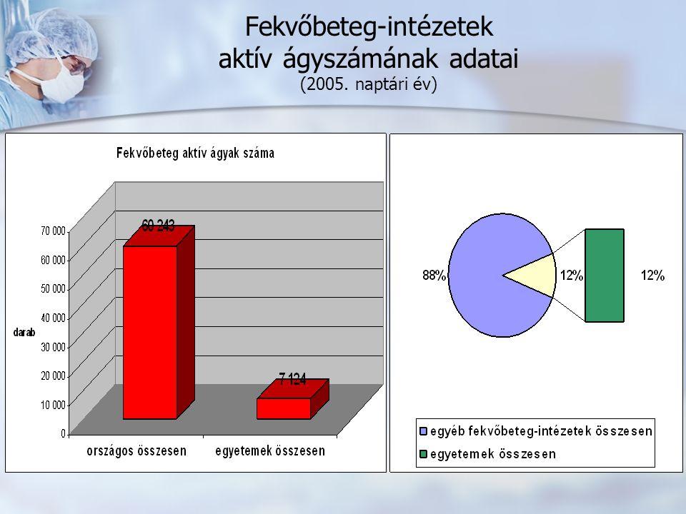 Fekvőbeteg-intézetek aktív ágyszámának adatai (2005. naptári év)