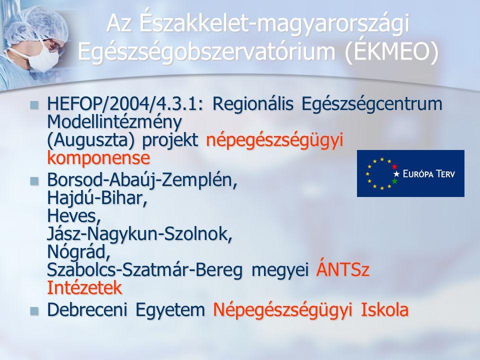 Az Északkelet-magyarországi Egészségobszervatórium (ÉKMEO) HEFOP/2004/4.3.1: Regionális Egészségcentrum Modellintézmény (Auguszta) projekt népegészség