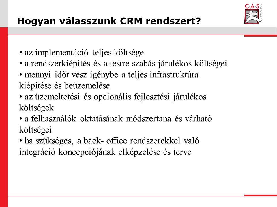 Hogyan válasszunk CRM rendszert.