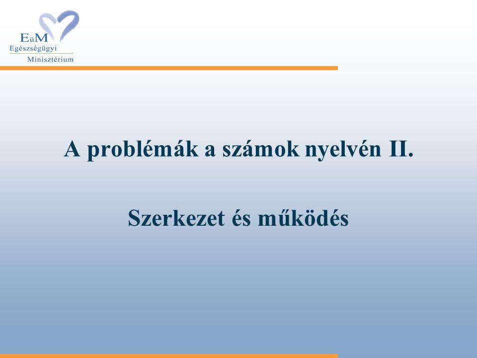 A problémák a számok nyelvén II. Szerkezet és működés