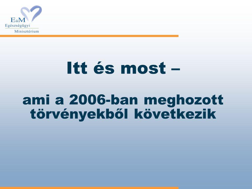 Itt és most – ami a 2006-ban meghozott törvényekből következik