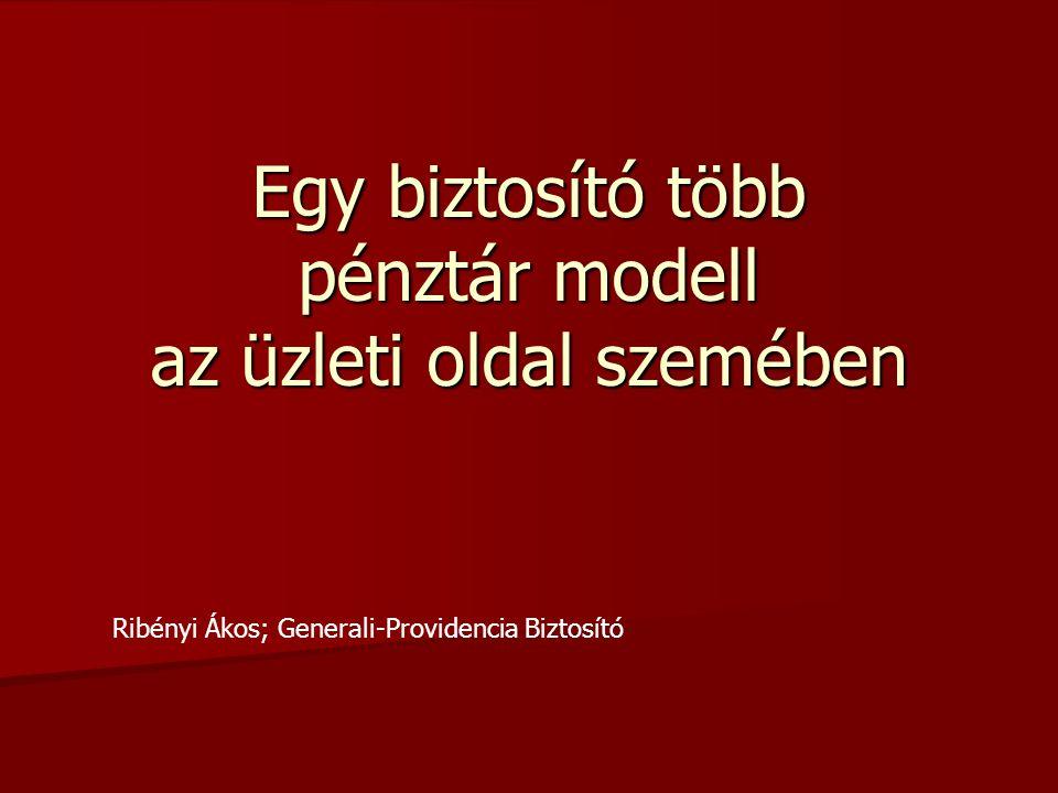 Egy biztosító több pénztár modell az üzleti oldal szemében Ribényi Ákos; Generali-Providencia Biztosító
