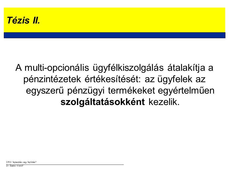 CRM: fejlesztés vagy fejlődés.Dr. Szabó Kristóf Tézis II.