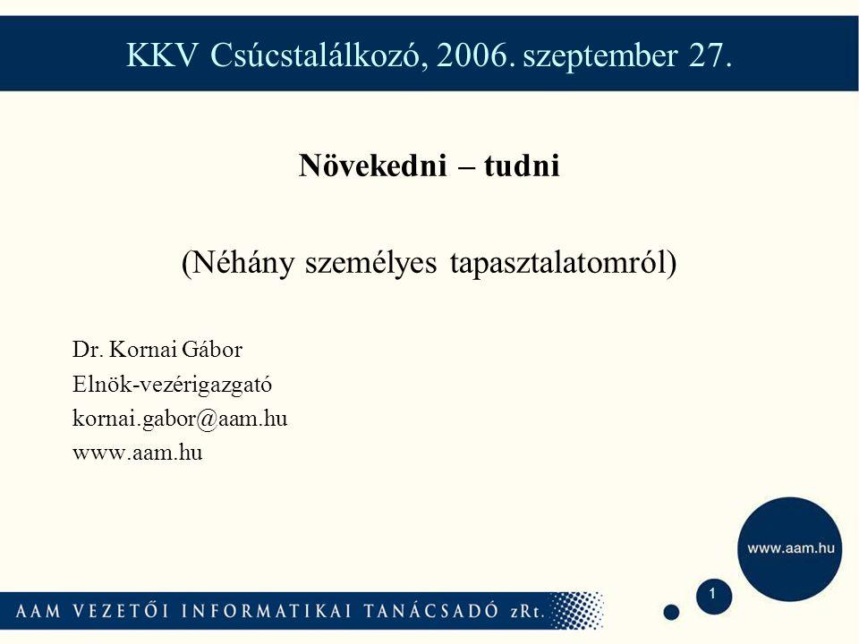 1 KKV Csúcstalálkozó, 2006. szeptember 27.
