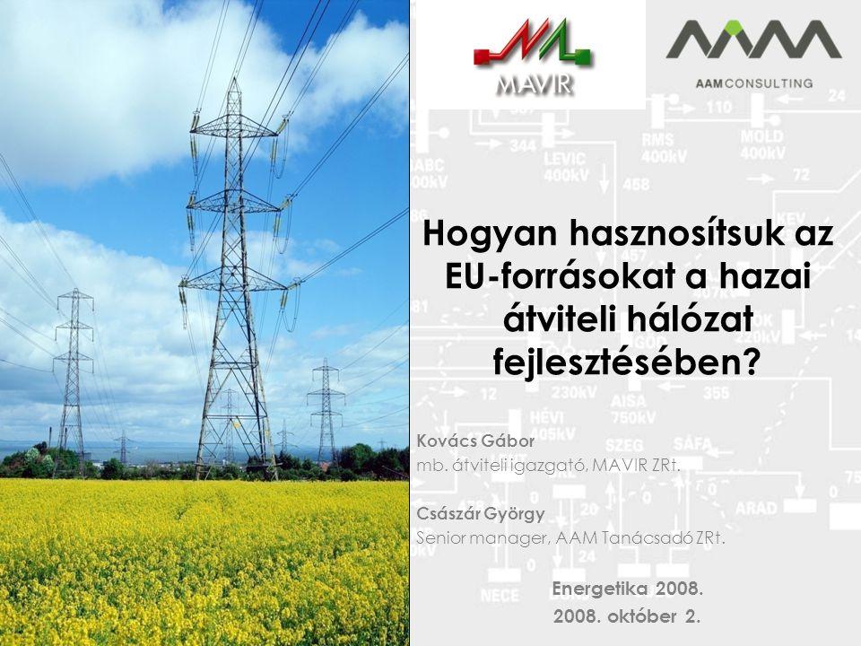 Hogyan hasznosítsuk az EU-forrásokat a hazai átviteli hálózat fejlesztésében.