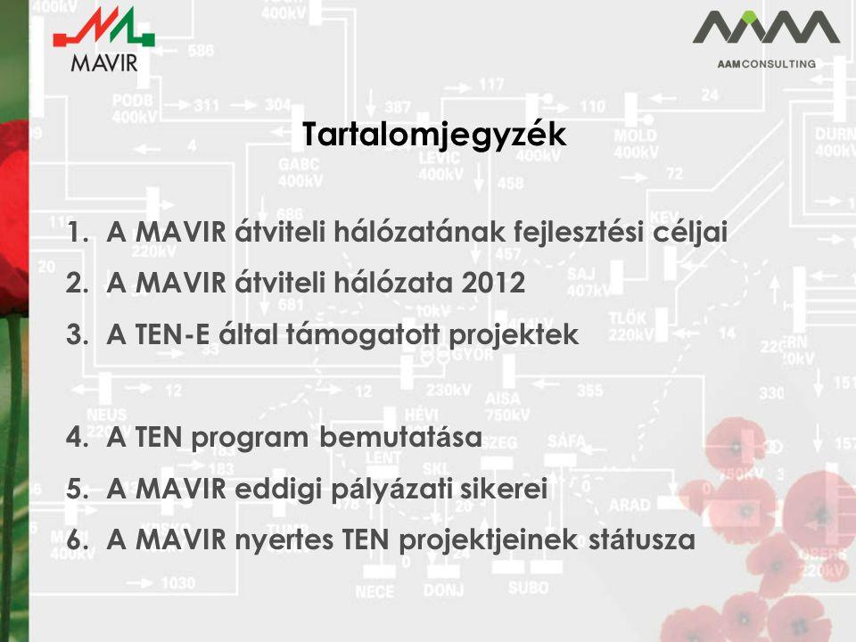 Tartalomjegyzék 1.A MAVIR átviteli hálózatának fejlesztési céljai 2.