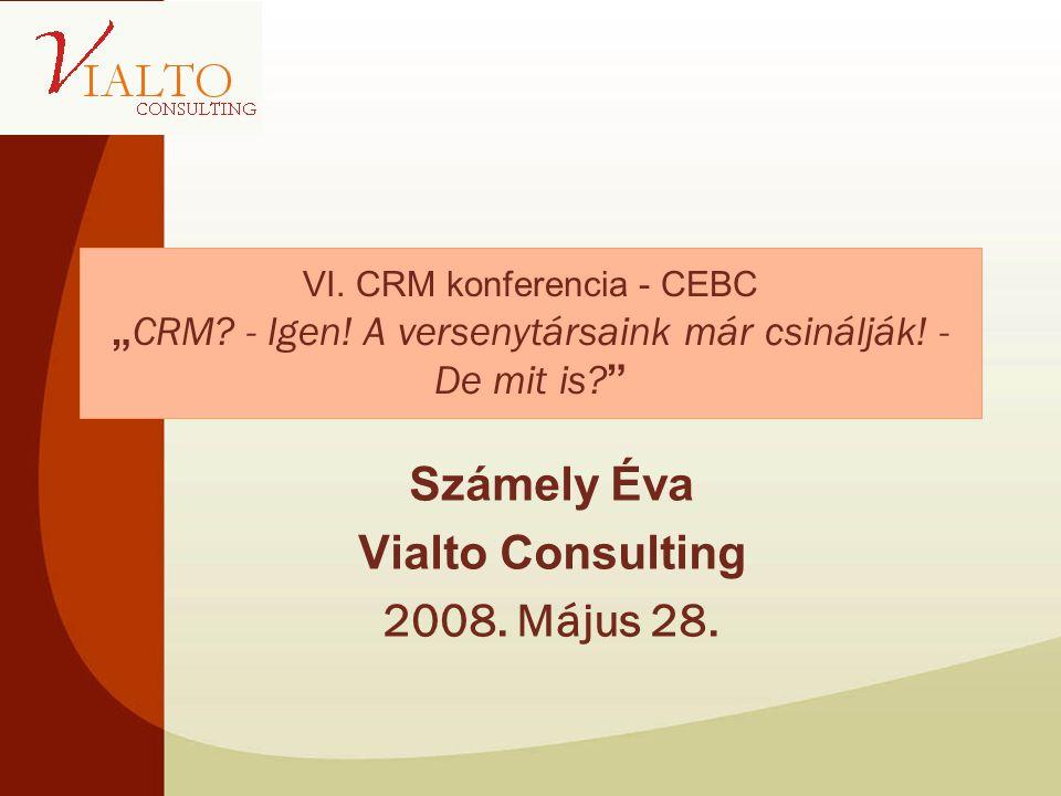 """VI. CRM konferencia - CEBC """" CRM. - Igen. A versenytársaink már csinálják."""