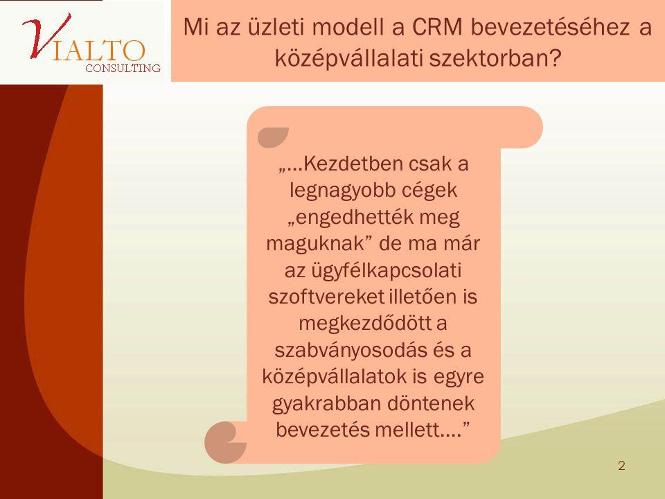 Mi az üzleti modell a CRM bevezetéséhez a középvállalati szektorban.