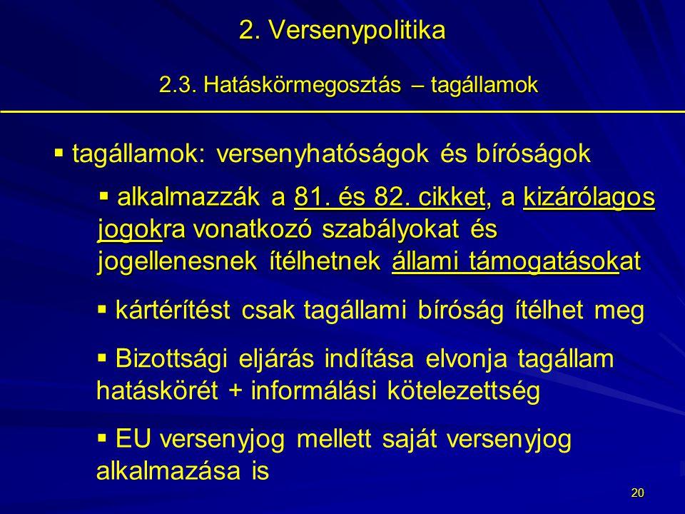 19 2.Versenypolitika 2.3.