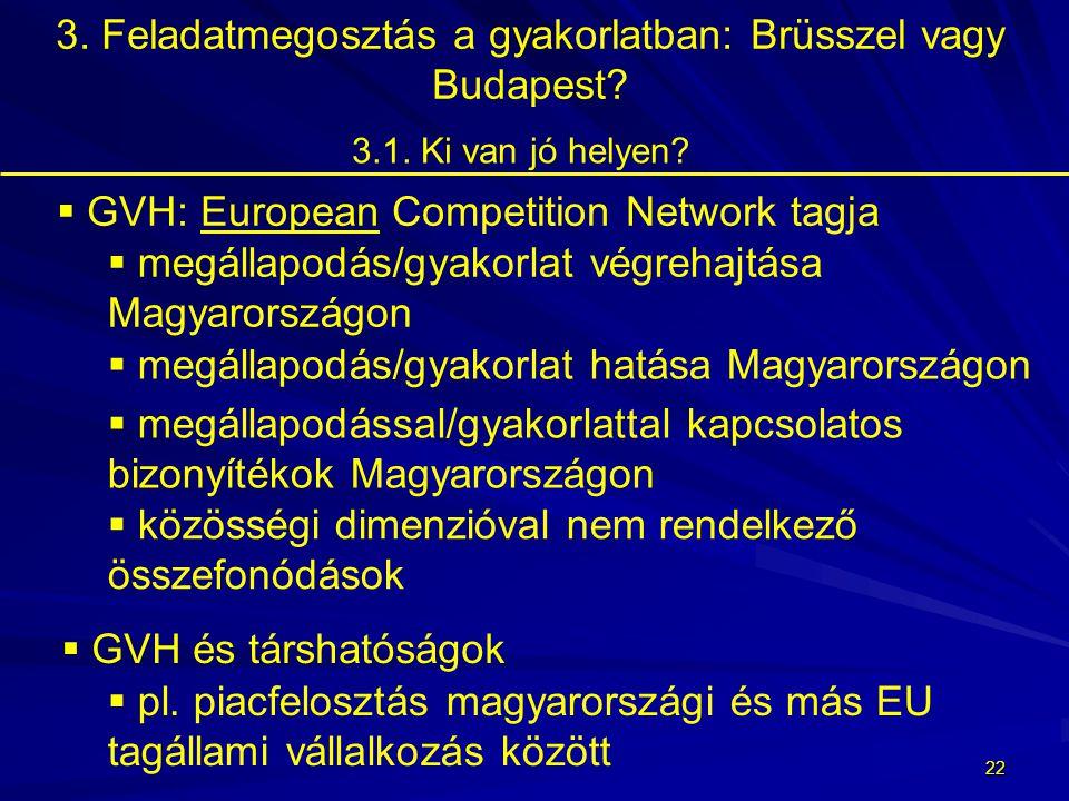 21 3. Feladatmegosztás a gyakorlatban: Brüsszel vagy Budapest?