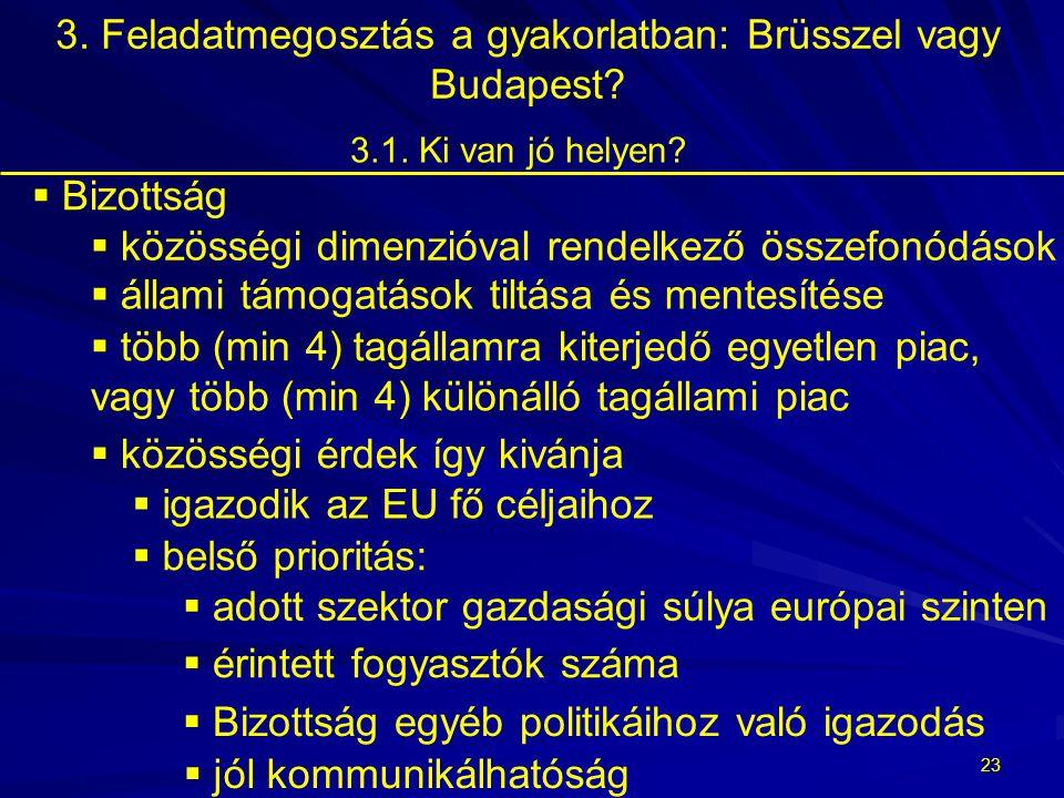 22  GVH: European Competition Network tagja  megállapodás/gyakorlat hatása Magyarországon 3.1.