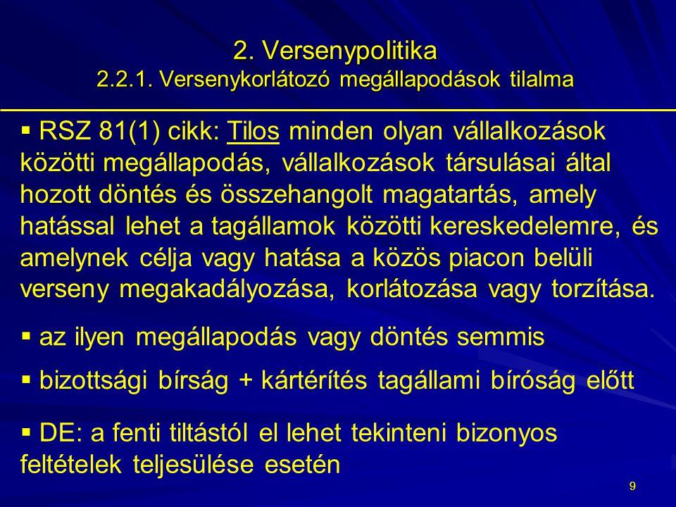 8 2.Versenypolitika 2.2.